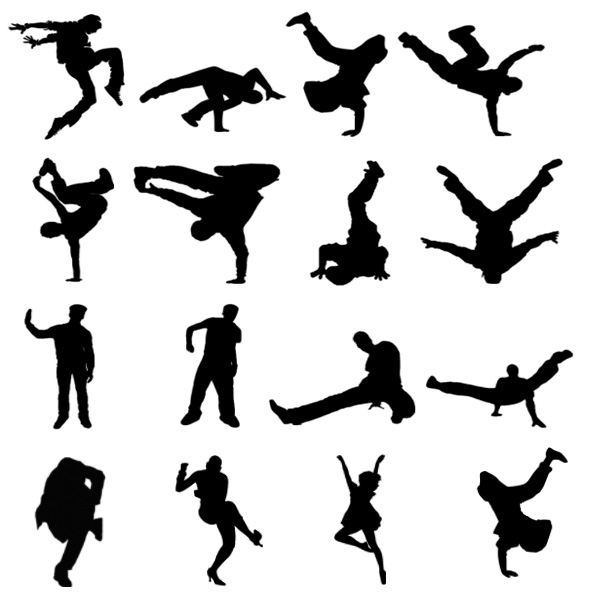 Break-Dance Silhouette Brushes- Free Pack. | www ...
