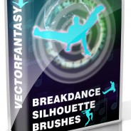 Break-Dance Silhouette Brushes- Free Pack.