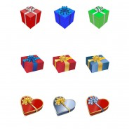 Free Vector Gift Presents.