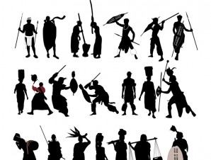 african people silhouettes
