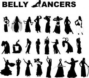 belly dancer silhouettes