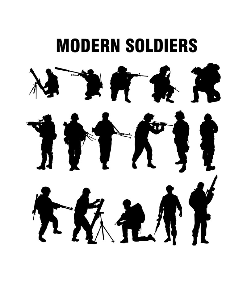 modern soldiers silhouettes www