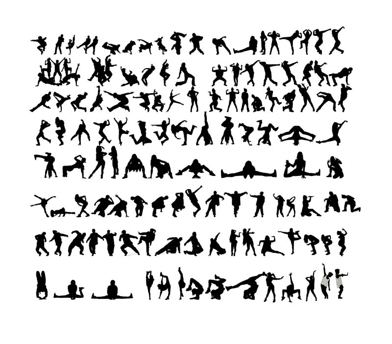 DOWNLOAD Street Dancers Silhouettes