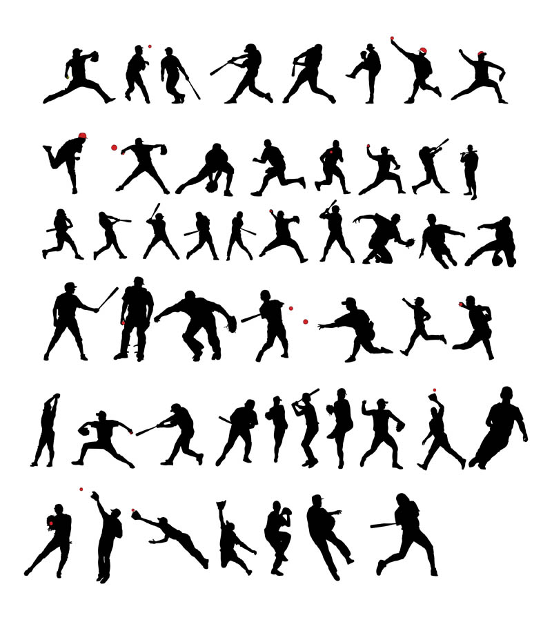 Baseball Player Silhouette Vector
