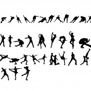 Ice Skating Vector Silhouettes