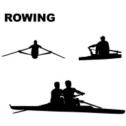 Rowing Vector Silhouettes