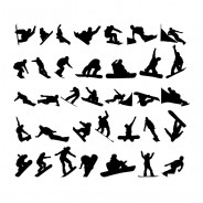Snowboarding Vector Silhouettes