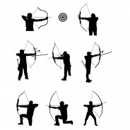Archery Vector Silhouettes