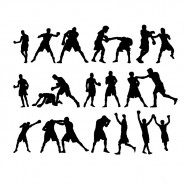 Boxing Figure Silhouettes