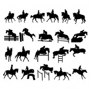 Equestrian Sports  Vector Silhouettes