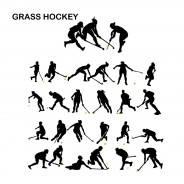 Field Hockey Vector Silhouettes