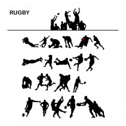 Free Set of Rugby Player Silhouettes