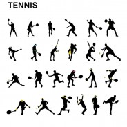 Free Tennis Vector Silhouettes