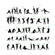 Free Volleyball Player  Vector  Silhouettes