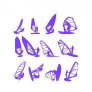 Windsurfing Vector Silhouettes
