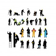 Construction Workers –Vector Silhouettes