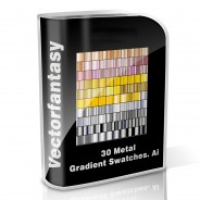 30 Free Metal Gradients for Illustrator.